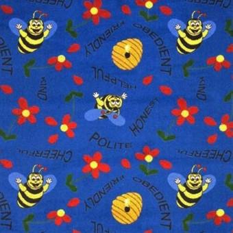Bee Attitudes - Blue From Joy Carpets