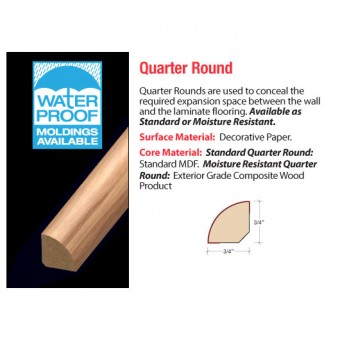 """94"""" Quarter Round - North Woods Oak From Accessories"""