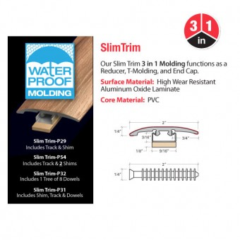 """94"""" 3N1 Reducer, T-Molding, & End Cap - Praline From Accessories"""